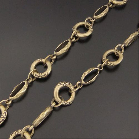 1PCS Antique Bronze Brass Necklace Chain