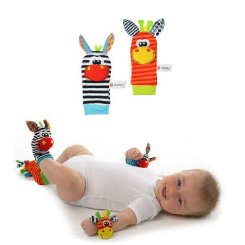 1 Pair Baby Infant Soft Animal Rattle Socks Foot Toy - FREE SHIPPING