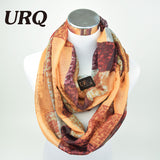 Women Fashion Design Plaid Lady Ring Infinity Scarf