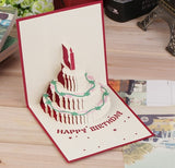 3D Card Pop Up Birthday Cake Handcrafted Greeting Birthday