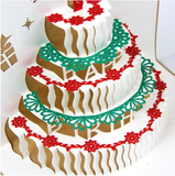 3D Pop Up Handmade Laser Cut Vintage Cards-Birthday Cake with Candle