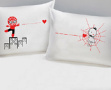 Set of 2 Love Catch You Pillowcases