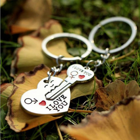 1 Pair Key to My Heart couple Keychain
