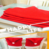 Hot Sale 4 pcs Fashion Santa Clause Red Hat Chair Back Cover Christmas Dinner Table Party Decor For Christmas