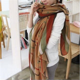 New Fashion Trendy Bohemian Women's Long Print Scarf Wrap Ladies Shawl Girl Large Pretty Scarf Tole Styles CC0624