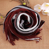 FREE SHIPPING Men Cashmere Scarf w Fringe Striped Tassel