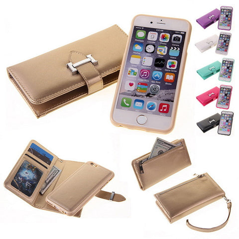 Stylish Detachable  Leather Cell Phone Wallet