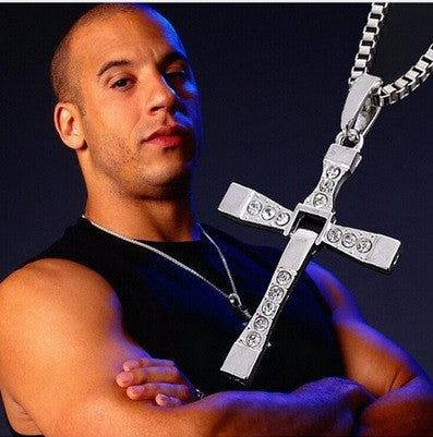 40% Off Trendy Silver Cross Crystal Necklace & Pendant - Unisex