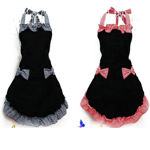 Flirty Vintage Cute Bib Apron Dress