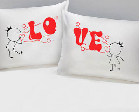 Set of 2 Love Pillowcases