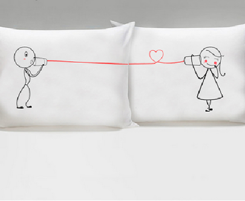 Set of 2 Say I Love You His & Hers Pillowcases