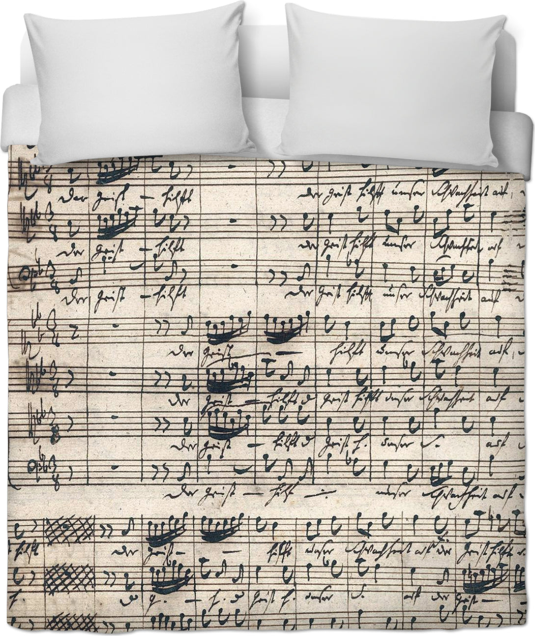 Bach Sheet Music Duvet Cover