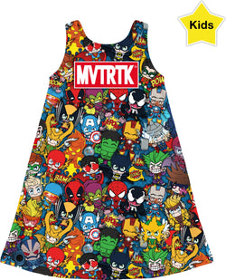 MVTRTK SUPER HEROES Kids Dress