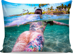 Underwater Watercolor Pillow Case