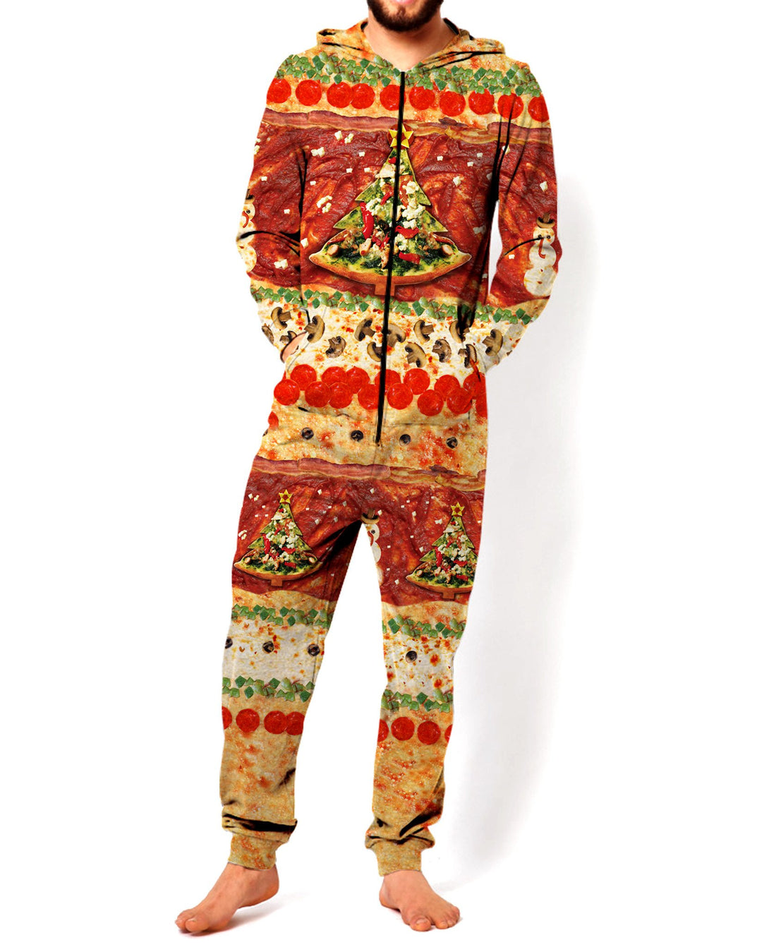 All I Want For Christmas is Pizza Onesie