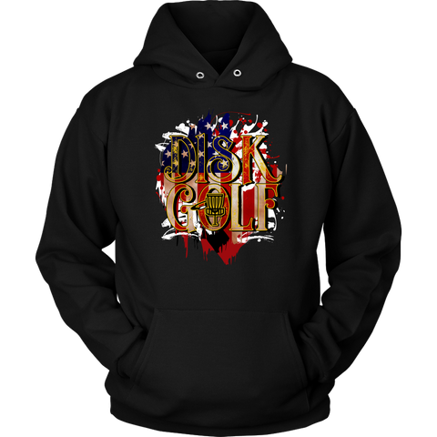 e81256d7 Disc Golf USA Flag Hoodie - Disc Golf Gift Idea