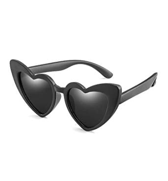 Kids Black Heart Shades