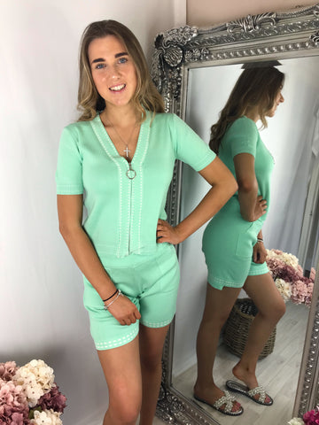 Sofia shorts set mint