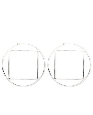 Lux Hoop Earrings Silver