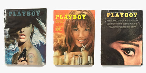 A collection of vintage Playboy Magazines hand picked by Gypsy Eye Vintage