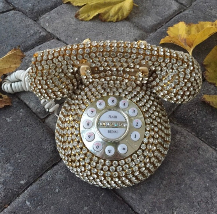 Retro Rhinestone phone