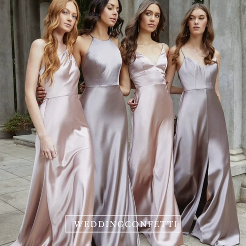 The Lorde Satin Bridesmaid Dress (4 Different Designs)