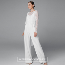 Load image into Gallery viewer, The Celeste White Lace Jumpsuit