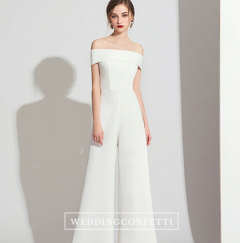 The Cellyn White Off Shoulder Jumpsuit