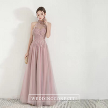 Load image into Gallery viewer, The Nikae Pink Halter Tulle Gown