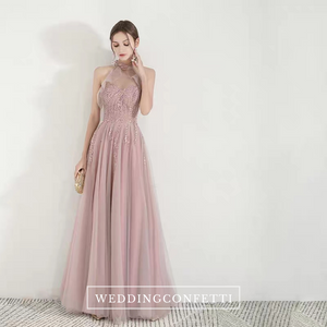 The Nikae Pink Halter Tulle Gown