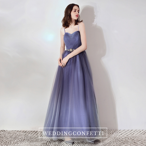 The Cassie Blue Ombre Sleeveless Gown