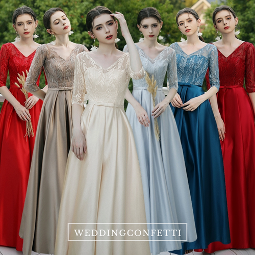 The Farisha Long Sleeves Gown (Various Colours)