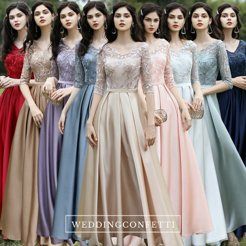 The Rayna Long Sleeves Gown (Various Colours)