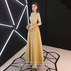 The Ohelia Gold/Silver Long Sleeves Gown