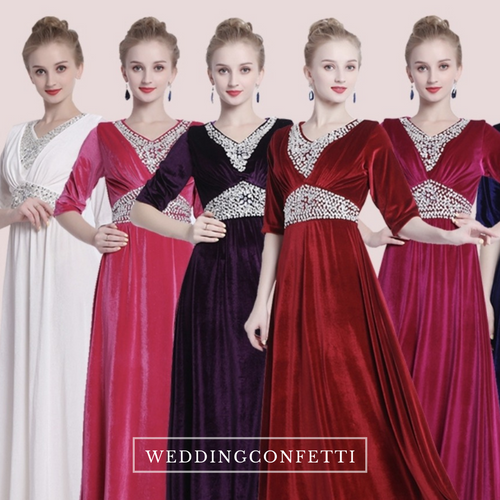 The Hesgel Long Sleeves Gown (Various Colours)