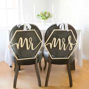 Wedding Decor - Hexagonal Bride & Groom / Mr&Mrs / Together Better - WeddingConfetti