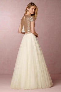 The Caia Wedding Bridal Sequined Crop Top Maxi & Skirt (Customisable) - WeddingConfetti