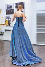 Load image into Gallery viewer, The Anastacia Iridescent Blue Gown - WeddingConfetti