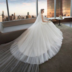 The Narelle Wedding Bridal Sleeveless Tulle Gown - WeddingConfetti