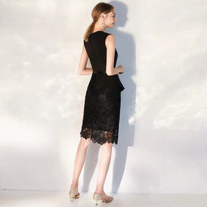 The Vicky Black Sleeveless Lace Dress (Available in 2 colours) - WeddingConfetti