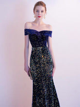 Load image into Gallery viewer, The Etsy Off Shoulder Glitter Gown - WeddingConfetti