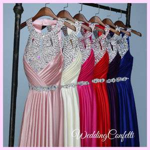The Lovelia Halter Evening Gown (Many Colours Available) - WeddingConfetti