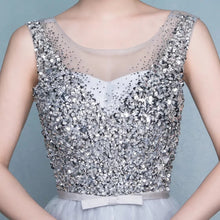Load image into Gallery viewer, The Celia Grey Sequined Sleeveless - WeddingConfetti