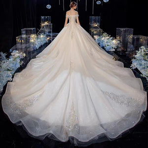 The Maureena Wedding Bridal Off Shoulder Gown