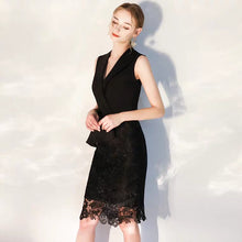 Load image into Gallery viewer, The Vicky Black Sleeveless Lace Dress (Available in 2 colours) - WeddingConfetti