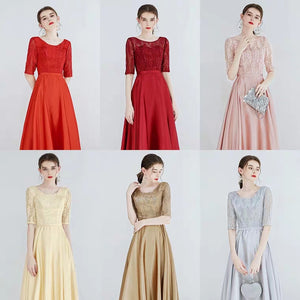 The Kadesha Long Sleeves Blue / Red / Gold / Grey / Pink Gown (Available in many colours) - WeddingConfetti
