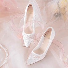 Load image into Gallery viewer, Wedding Lace Heels