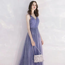 Load image into Gallery viewer, The Canopus Blue Sleeveless Star Gown - WeddingConfetti