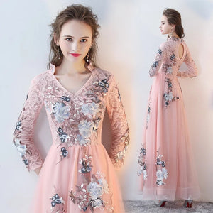 The Melyssa Floral Pink Lace Dress