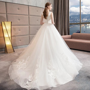 The Angelica Wedding Bridal Sleeveless Gown - WeddingConfetti